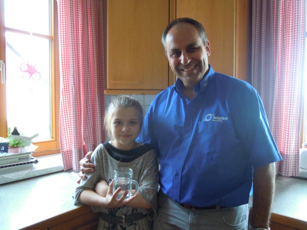 Herr Lehner mit Enkel Josephin