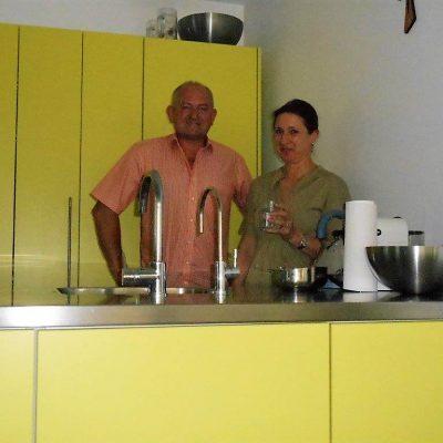 Frau Dr. Edith Kurz mit unserem Trinkwasserberater Walter Moshammer