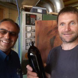 Das Foto zeigt Herrn DI Peter Imitzer und unseren Trinkwasserberater Norbert Lehner