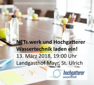 Trinkwasservortrag | NETs.werk Steyr